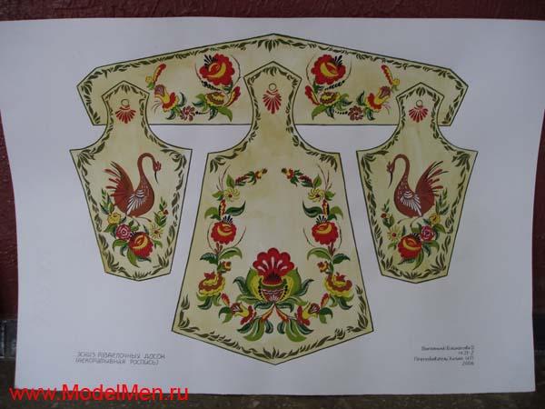 Разделочные доски с росписью гуашью (ХГФ)