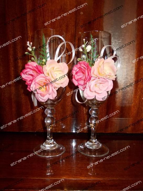 Мастер класс украшение свадебных бокалов своими руками