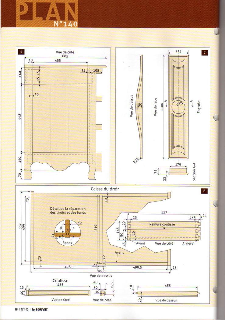 деревянный комод чертежи