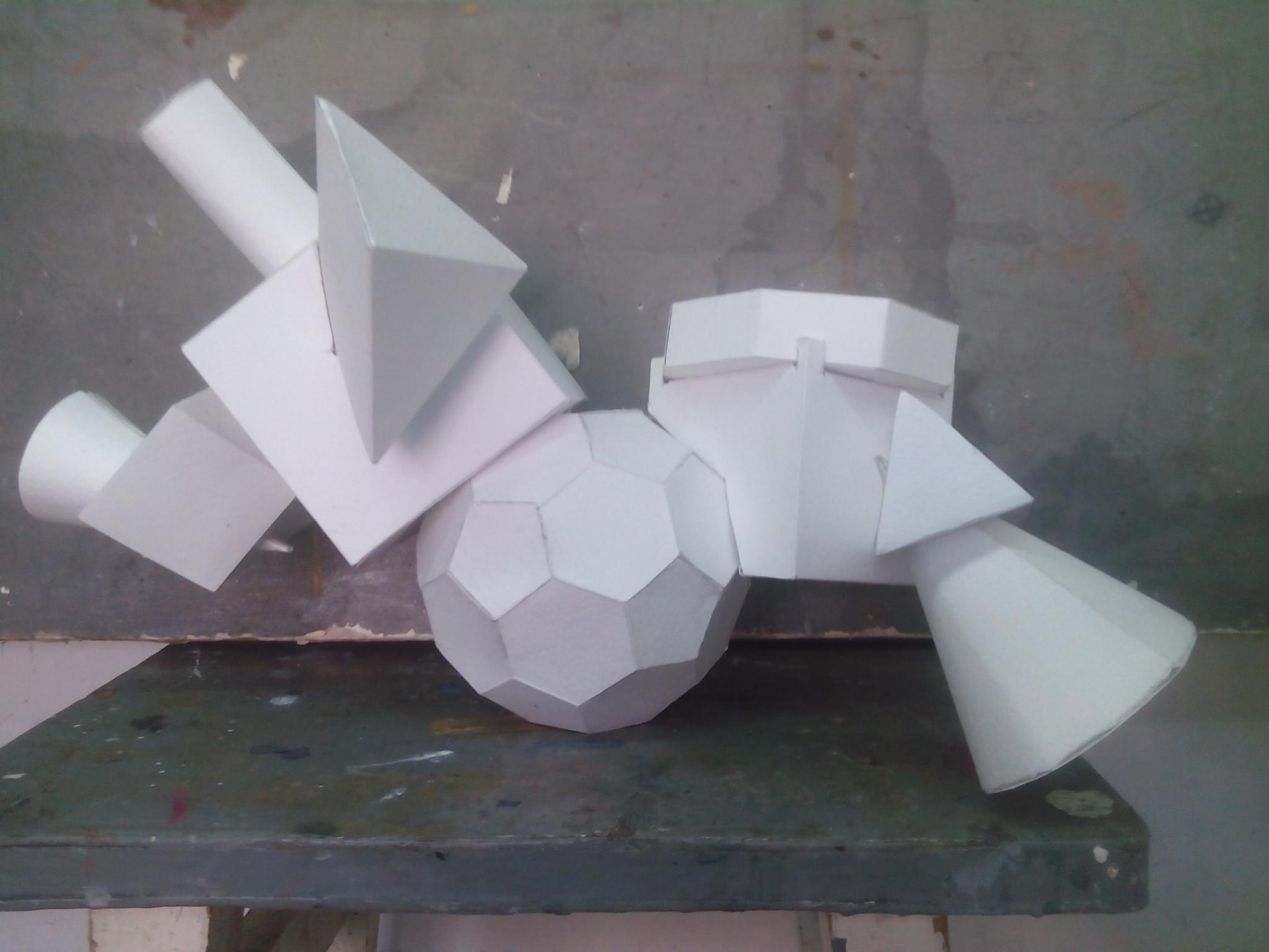 Поделки из геометрических фигур объемные своими руками фото 782